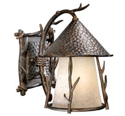 Woodland Outdoor Wall Sconce - 9 inch - Light Autumn Patina