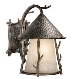 Woodland Outdoor Wall Sconce - 11 inch - Light Autumn Patina
