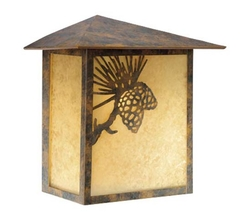 Whitebark Traditional Outdoor Wall Light Olde World Patina