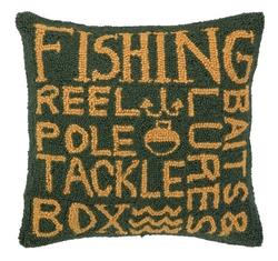 Fisherman's Paradise Hooked Pillow
