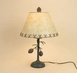 Pine Cone Branch Table Lamps - PAIR