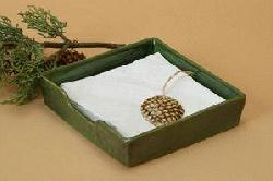 North Country Pine Cone Napkin Holder - ONE LEFT