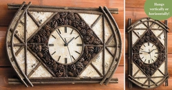Pinecone Arch Clock
