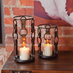 Leather Bridle Candle Holder