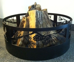 Pine Branch Fireplace Ring