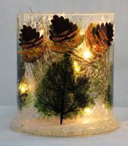 Lighted Pinecone Accent Light