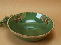 Merveilleux North Country Pine Cone Medium Serving Bowl