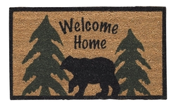 Welcome Home Black Bear Doormat