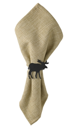 Moose Napkin Rings - Set of 2