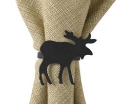 Moose Napkin Rings - Set of 2