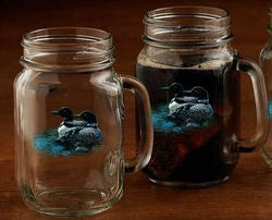 Loon Jar Glassware - set of 4