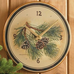 Pinecone Round Clock - 11
