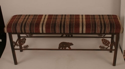 Bear and Pinecone Bench - Iron