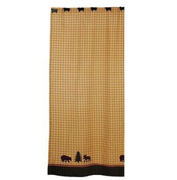 Bear and Moose Sherwood Shower Curtain