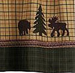 Lovely Bear And Moose Sherwood Shower Curtain
