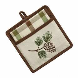 Walk in the Woods Potholder/Towel Set