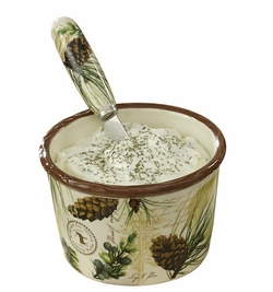 Walk in the Woods Dip Bowl w/Spreader