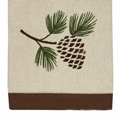 Pinecone Embroidered Dish Towel