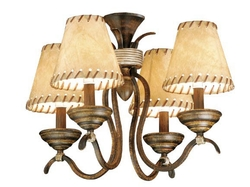 Yellowstone Four Light Ceiling Fan Light Kit - Aged Walnut