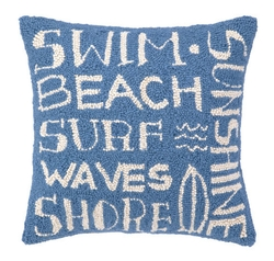 Blue Surfer's Paradise Pillow