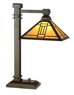 Craftsman/Mission Noir Desk Lamp - Dale Tiffany