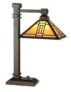 Craftsman/Mission Noir Desk Lamp   Dale Tiffany