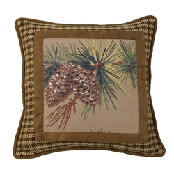 Crestwood Pinecone Frame Accent Pillow