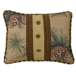 Crestwood Pinecone Button Accent Pillow
