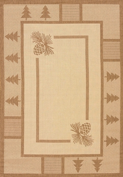 Solarium Pine Court Brown Outdoor Rug