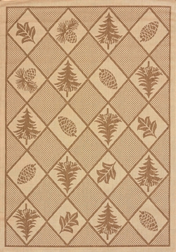 Solarium Woven Pine Brown Outdoor Rug