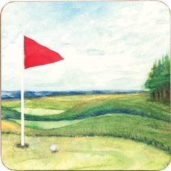 Ocean Blue Golf Drink Coasters - Set of 4