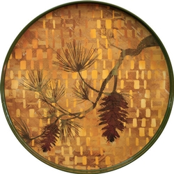 Autumn Pine Round Tray