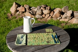 Ginseng Coasters - Set of 4