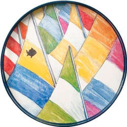 Sailboats Round Tray - 18
