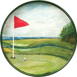 Ocean Blue Golf Tray - 18