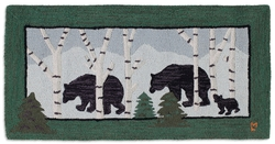 Three Bears in Birch Woods - 2' x 4'
