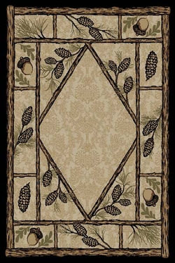 Brasstown Bald Pinecone Rug Series