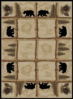 Toccoa Bear and Pine Rug Series