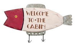 Welcome Fishing Lure Sign