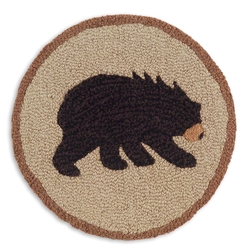 Black Bear Chair Pad - Set of 4