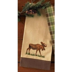 Moose Embroidered Towel