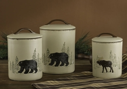 Rustic Retreat Canisters - Set of 3