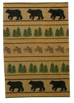 Bear Track Jacquard Dish Towel