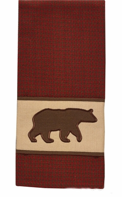 Houndstooth Bear Applique Dish Towel