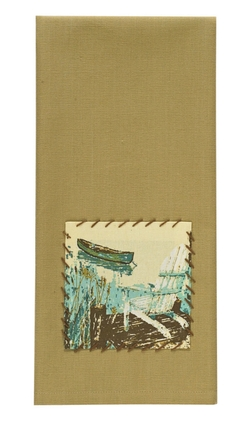 Lake Shore Patch Dish Towel