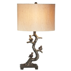 Birds in Tree Lamp - Set of 2