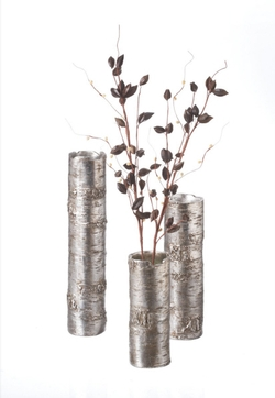 Antique Silver Branch Vase - Set of 3