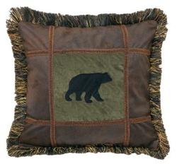 Bear on Pine Pillow