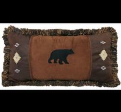 Bear and Diamond Pillow
