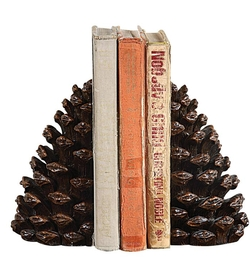 Pinecone Bookends - 7